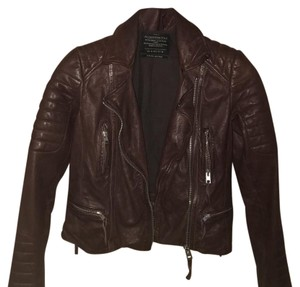 AllSaints brown/red Leather Jacket