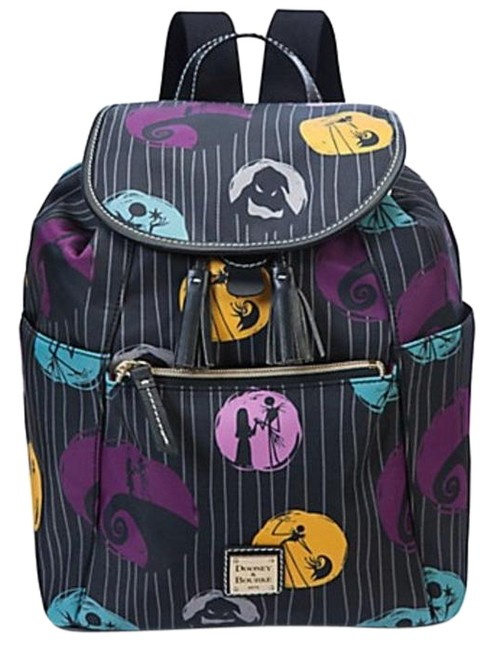 Item - Nightmare Before Christmas Blues and Purple Nylon Shell with Leather Trim Backpack