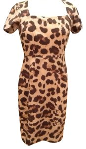 Banana Republic short dress Leopard Print Dress - Brown Tan White on Tradesy