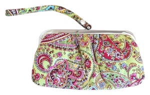 Vera Bradley Coin Clutch Wristlet in Pink and Green