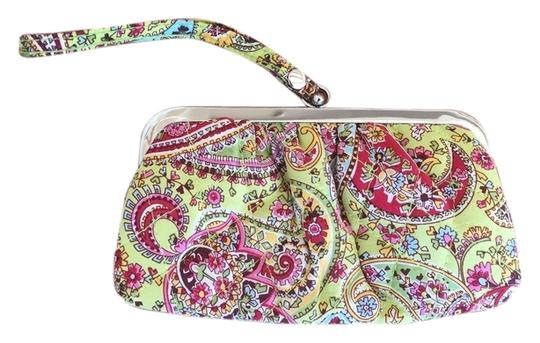Vera Bradley Coin Purse Clutch Wristlet in Pink and Green