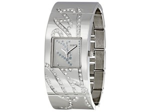 Guess U13552L1 Women's Silver Metal Bracelet With Silver Analog Dial Watch