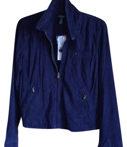 Ralph Lauren navy blue Leather Jacket