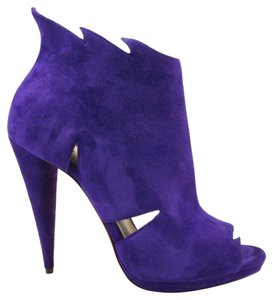 Christian Louboutin Belfeconica Cut Out Purple Boots