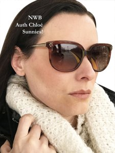 974fa0c85a2 Chloé MOMS DAY DEAL AUTH CHLOE CE642S 282 TORTOIS BROWN SUNNIES GOLD Feature
