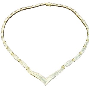 Other Pave Diamond 14k yellow gold necklace