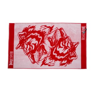 Just Cavalli New Just Cavalli Red & White 100% Cotton Extra Large Beach Pool Towel