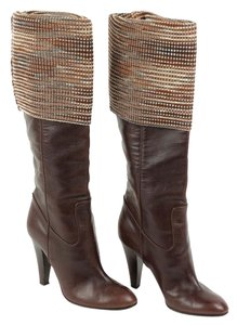 Missoni Leather Brown Boots