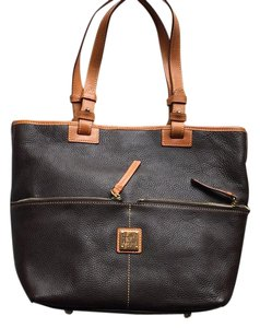 Dooney & Bourke Tote in Chocolate Brown with Camel trim
