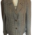 Valentino Gingham Black and White Blazer