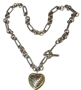 David Yurman Cable Heart Figaro Necklace