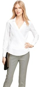 Brooks Brothers Business Attire Classic Monogram Top White