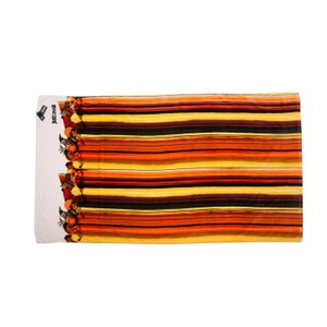 Just Cavalli Just Cavalli Orange Striped XXL Large 100% Cotton Beach Towel 71x39