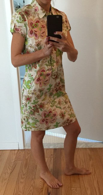Pepe Jeans short dress Multi (mostly white with green, pink, yellow, red) on Tradesy
