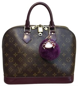 Louis Vuitton Satchel in Burgundy Brown