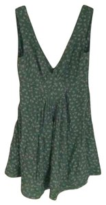 Kate Moss for Topshop short dress Green Floral Daisy Sundress Cut-out on Tradesy