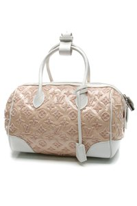 Louis Vuitton Satchel in Pink, white