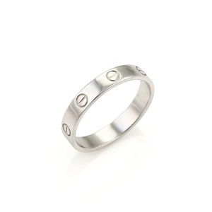 Cartier Cartier Mini Love 18k White Gold 4mm Wide Band Ring