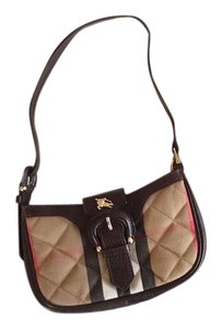 Burberry Plaid Quilted Calf Leather Shoulder Bag
