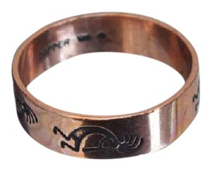 Other Copper Ring with Native Figure, Size 7, Southwestern Theme Jewelry