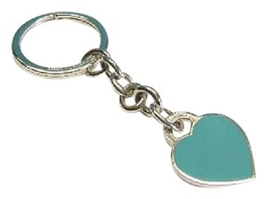 Tiffany & Co. Return to Tiffany & Co. Blue enamel Sterling Silver Heart Keychain