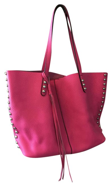 Item - Unlined Hot Pink Leather Tote