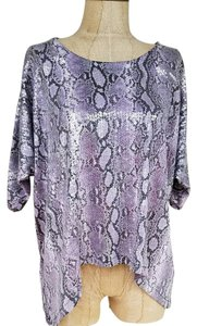 Michael Kors #sequins #python #dolmansleeve #purple #asymmetrical Top Purple
