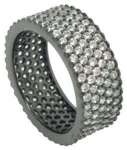 Elle Cross Elle Cross Black Rhodium Sterling Silver 4.60ctw Diamond Simulant Band