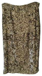 Alice + Olivia Sequin Skirt Bronze Sequins