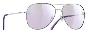 Chanel 4189 Aviators CC Logo Purple Silver Pilot Titanium Leather Classic