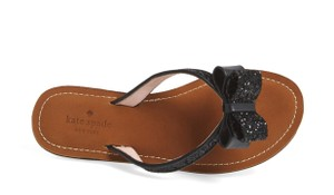 Kate Spade Glitter Flip Flops Summer black Sandals