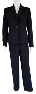 Kasper KASPER Black Pinstriped Career Pantsuit Pants Suit 6P Petite 6