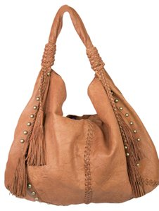 Cynthia Rowley Fringe Studded Leather Hobo Bag