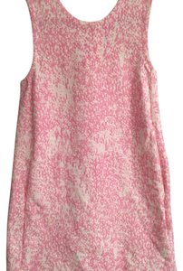 Zara short dress pink/white on Tradesy