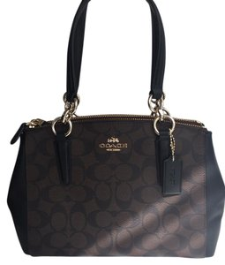 Coach Carryall Signature Christie Satchel in Brown