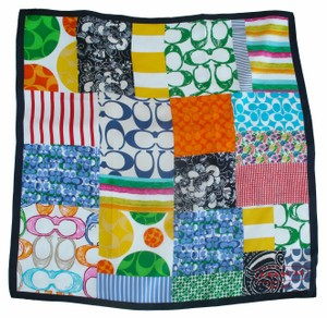 Coach Hamptons Weekend Patchwork Square Silk Scarf Wrap