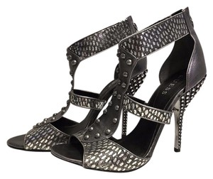 Guess Studded Leather Stiletto Bronze metallic Sandals