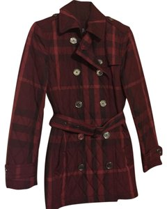 Burberry Brit Black and Dark Red striped Jacket