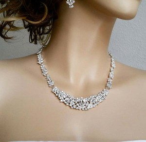 Bridal Jewelry Set - Necklace And Earrings
