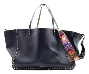 Valentino Women's Reversible Rockstud Tote in Black