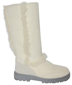 UGG Australia Uggs Faux Fur Ugg Shearling White Boots