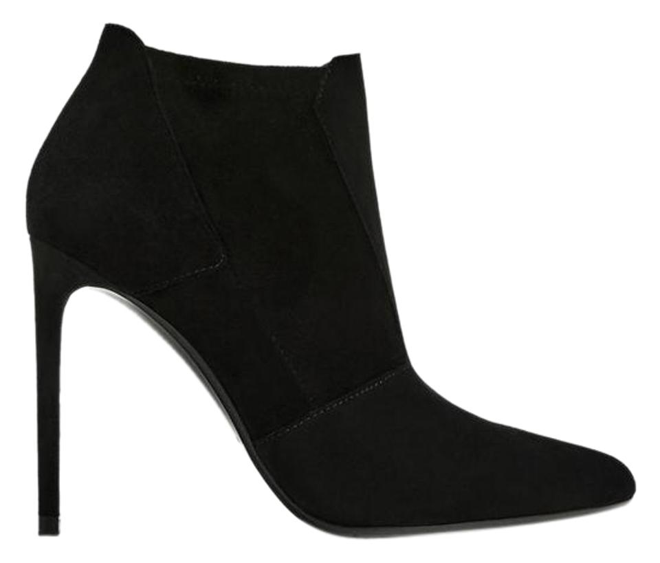 Zara Elasticated Black New with Tags Elasticated Zara Leather Ankle Boots/Booties 07e375