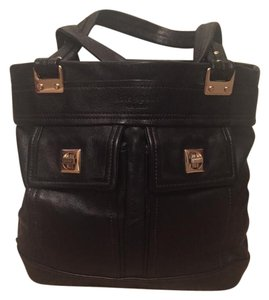 Kate Spade Leather Gold Hardware Tote in Black