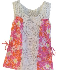 Lilly Pulitzer Top Pink, orange, white yellow, fuschia