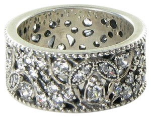 PANDORA 190965CZ Ring Sz 6.75 54 Shimmering Leaves Clear Cubic Zirconia 925