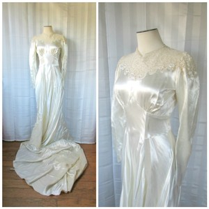 Vintage 1940s Wedding Dress Wedding Dress