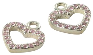 PANDORA 290657PCZ Be My Valentine Earrings Pink Cubic Zirconia Sterling Silver