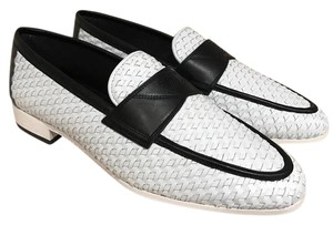 Chanel Braided Weave Leather Oxford white Flats