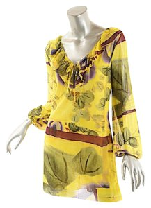 Jean-Paul Gaultier short dress Jean Paul Gaultier Vibrant Beach Summer Ruffle on Tradesy