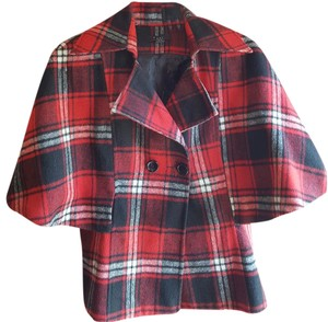 Other Red Black White Plaid Jacket